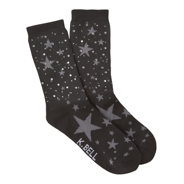 Women's Starry Night Rhinestones Crew Socks