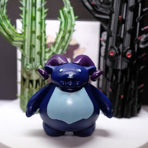 "3"" Royal Blue Ramble - hand doodled"