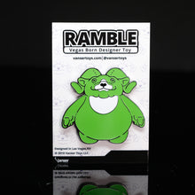 "Load image into Gallery viewer, 2"" Radiant Ramble Glow-in-the-Dark Hard Enamel Pin LE 50"