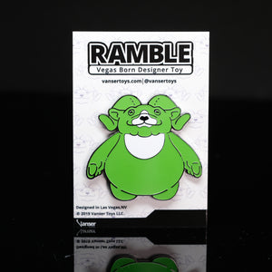 "2"" Radiant Ramble Glow-in-the-Dark Hard Enamel Pin LE 50"