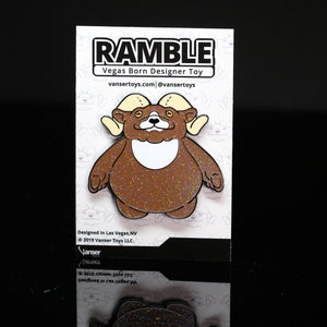 "2"" Glitter Ramble Hard Enamel Pin LE 50"