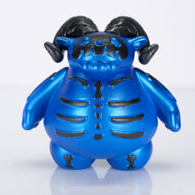 "Load image into Gallery viewer, 3"" Black and Blue Glow-in-the-Dark Skelly Ramble LE6"