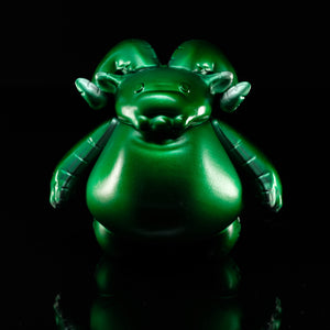 "4"" Green Mylar Balloon Ramble with Stand LE6"