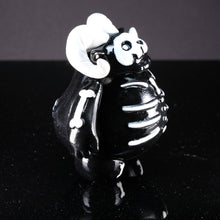 "Load image into Gallery viewer, 4"" Black and White Skelly with 1 in 3 Chance of a GITD Chase Variant"