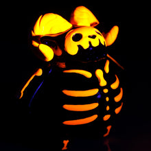 "Load image into Gallery viewer, 4"" Black Light Skelly"