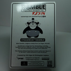 "4"" Solid Resin Steamboat Ramble LE 25"