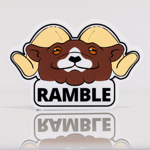 Ramble Ahead Vinyl Sticker