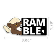Load image into Gallery viewer, Ramble Founders Edition Nevada Stamp Vinyl Sticker