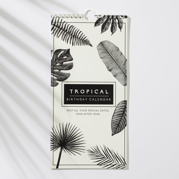 Birthday & Anniversary Calendar Tropical leaf