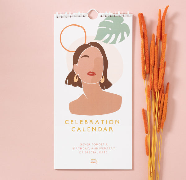 Birthday and celebration calendar women of all colours shapes and sizes