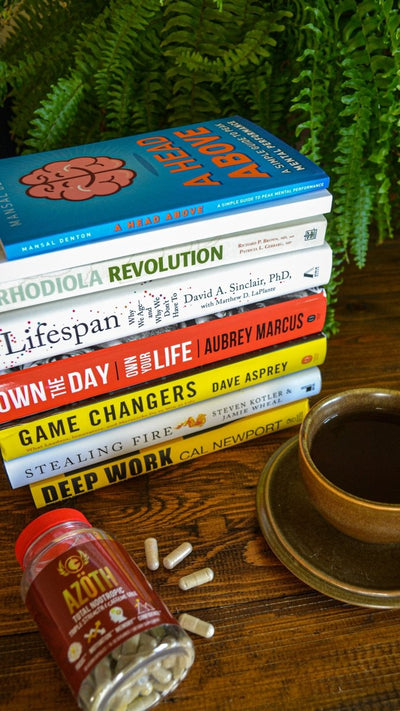 We've got BOOKS! Nootropics, Biohacking, Longetivity, Performance & Focus reading galore.