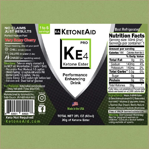 KE4 Ketone Ester - The VitaKea Store - Nootropics & Biohacking for New Zealand