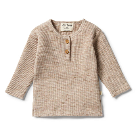 Wilson & Frenchy - baby - Oatmeal Fleck Waffle Henley Top
