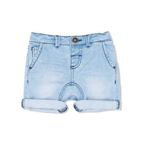 boys - drifter cargo short - mid denim