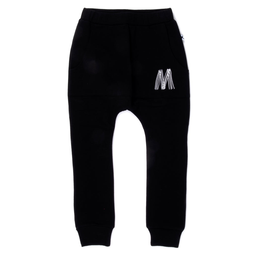 Minti - Throwback Furry Pouch Trackies - Black