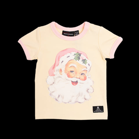 Rock Your Baby Santa ss tshirt - cream