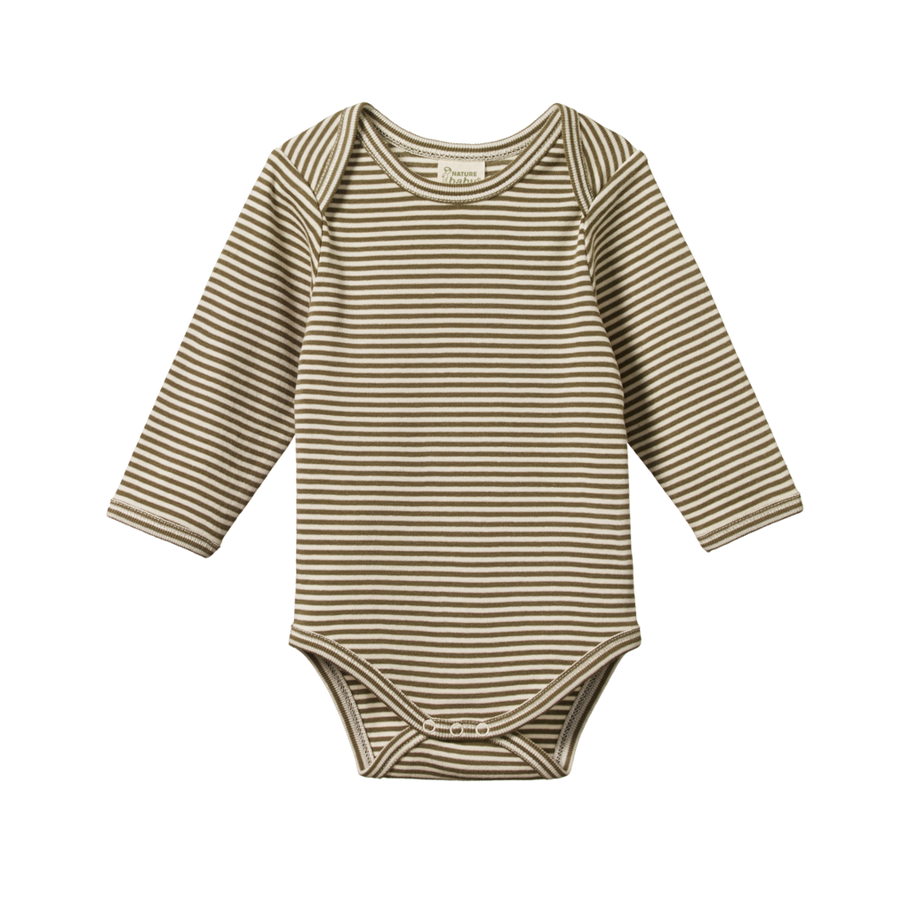 Nature Baby - Long Sleeve Bodysuit - Cypress Stripe