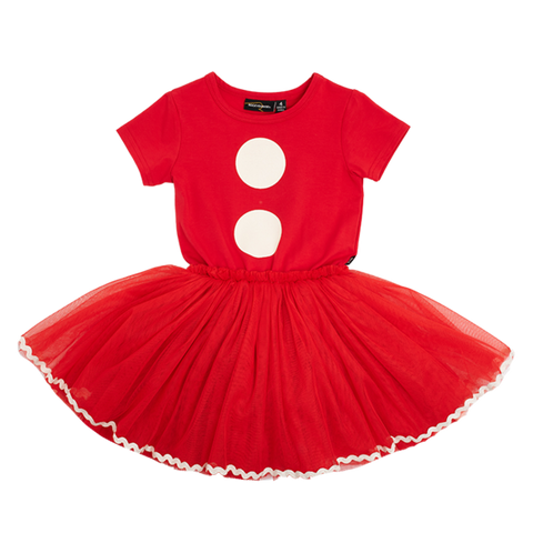 Girls - Santa baby circus dress - red