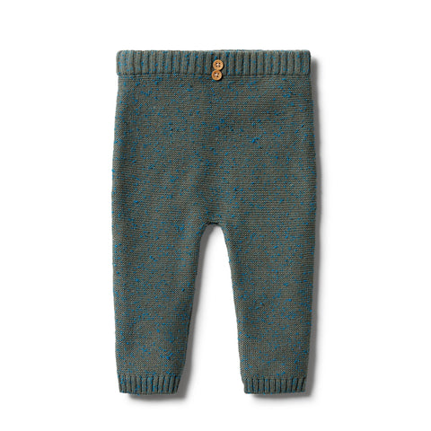 Wilson & Frenchy - baby - Dusty Olive Fleck Knitted Ottoman Legging