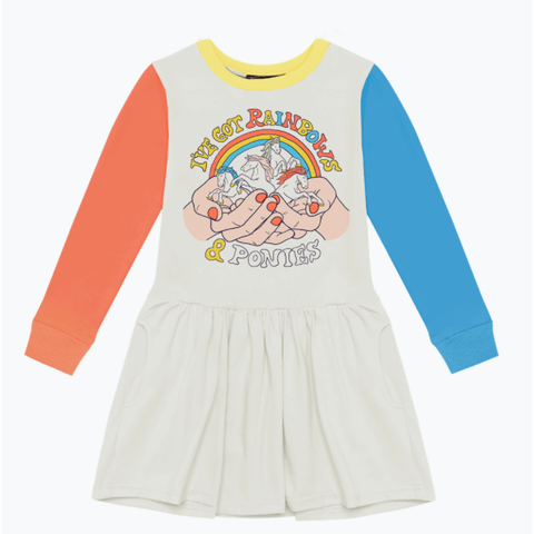 Rock Your Baby - Rainbows and Ponies Drop Waist Dress