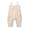girls - singlet jumpsuit - whisperwhite/watermelon/peach/jojoba