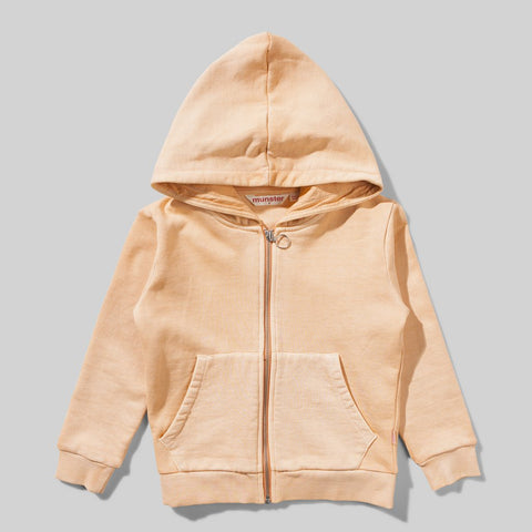 Missie Munster  - Crouching Tiger Zip Up Hoodie - Apricot wash