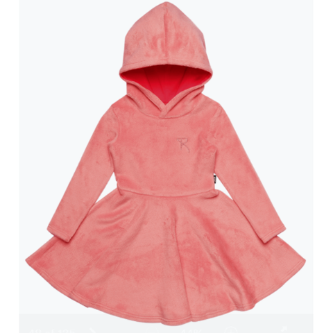 Rock Your Baby - Pink Hooded Waisted Dress