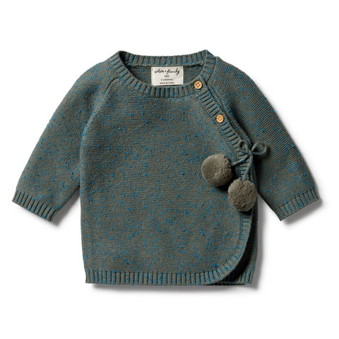 Wilson & Frenchy - baby - Dusty olive Knitted Kimono Cardigan