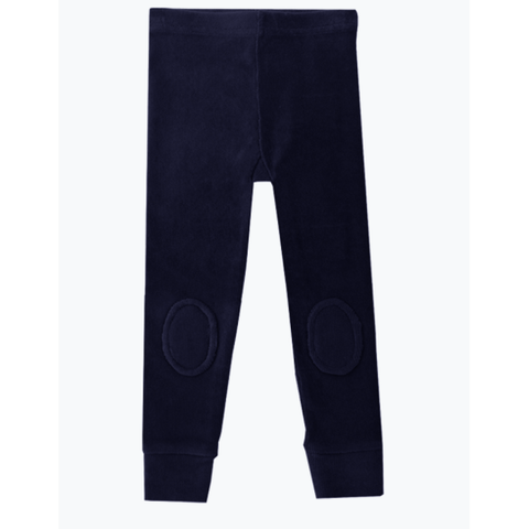 Rock Your Baby - Navy Blue Corduroy Knee Patch Tights