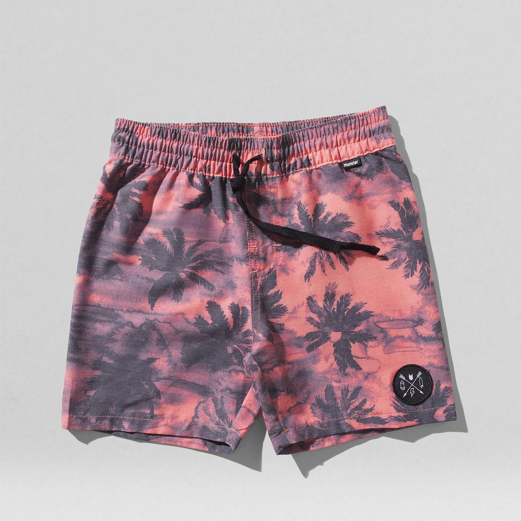 Munster Kids - M Land Boardies - Palm Red