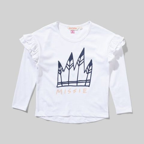 Munster Kids - romy ls tee - White