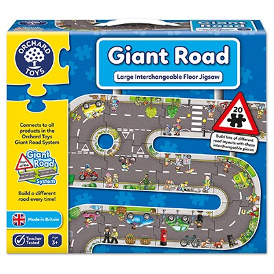 Orchard Toys - Giant Road - Large Interchangaeable Floor Jigsaw