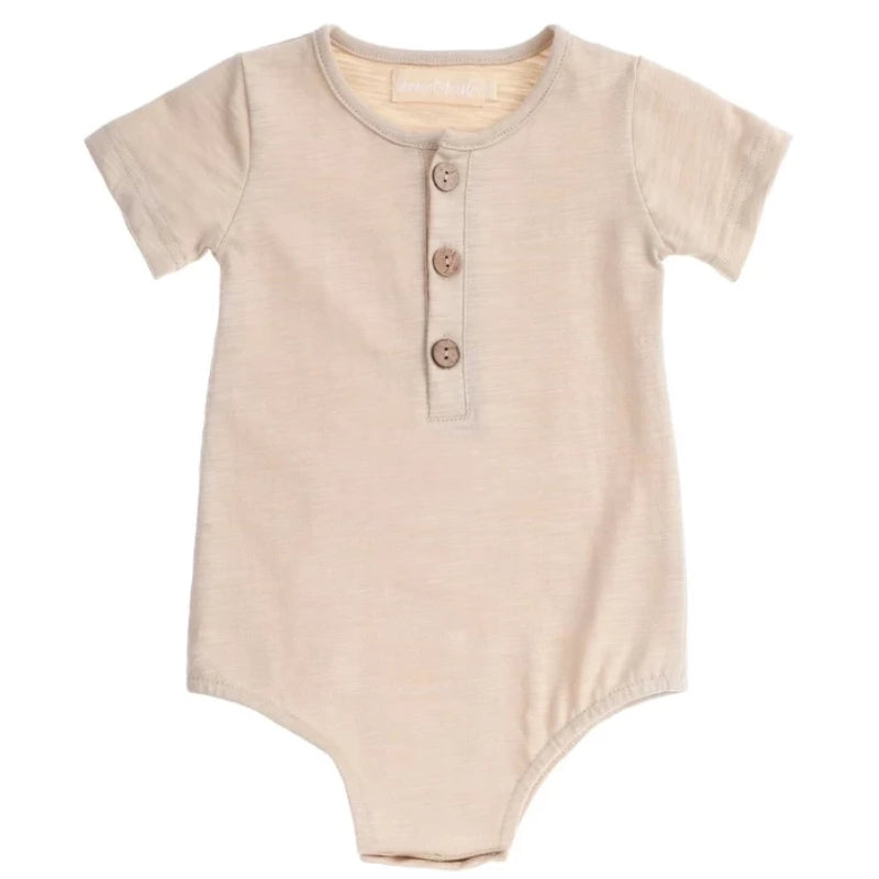 Bonnie & Harlo - Baby boy - Tee Romper with Buttons