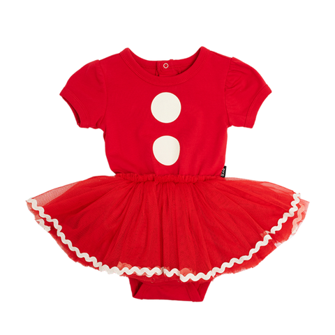 Rock Your Baby Santa baby ss circus dress - red