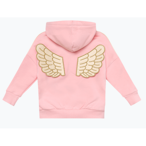 Rock Your Baby - Pink Fairy Wing Baby Hoodie