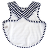 Alimrose Bib - Arm Holes Back Fastening Navy
