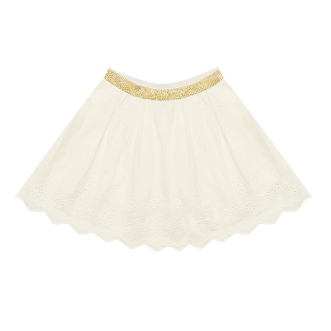 Rock Your Baby Broderie Anglaise Skirt - Cream