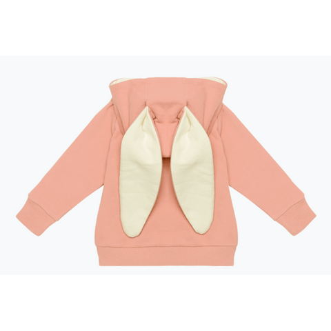 Rock Your Baby - Pink Bunny Ears Baby Hoodie