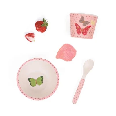 Love Mae - Bamboo Baby Feeding Set - Butterflies