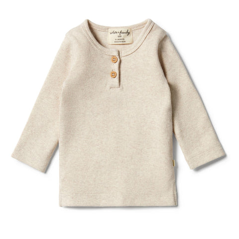 Wilson & Frenchy - baby - Oatmeal Organic Rib Henley Top
