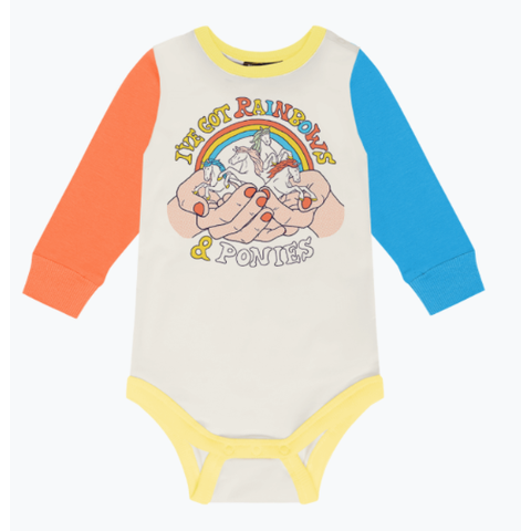 Rock Your Baby - Rainbows and Ponies Bodysuit