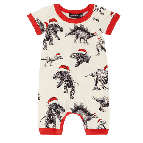 Rock Your Baby Jolly Jurassic Playsuit - Cream