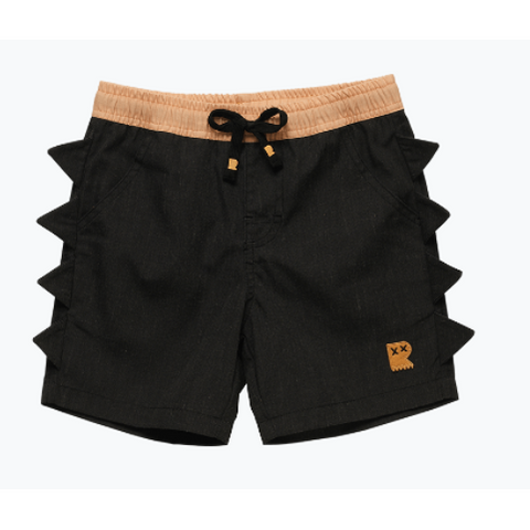 Rock Your Baby Dino Boardshorts  - Black