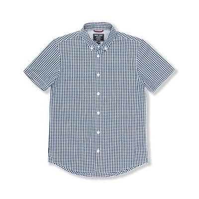 boys - dorridge check shirt - navy