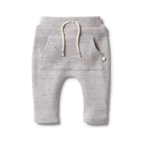 Wilson& Frenchy - baby - Glacier Grey Fleck Waffle Slouch Pant