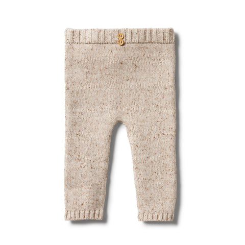 Wilson & Frenchy - baby -Flamingo Oatmeal Fleck Knitted Legging
