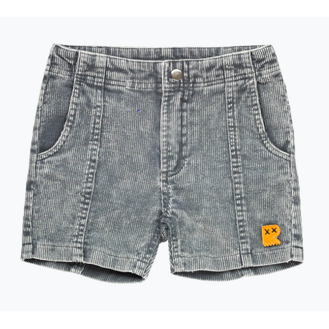 Rock Your Baby - Washed Charcoal Corduroy Shorts - Washed Charcoal