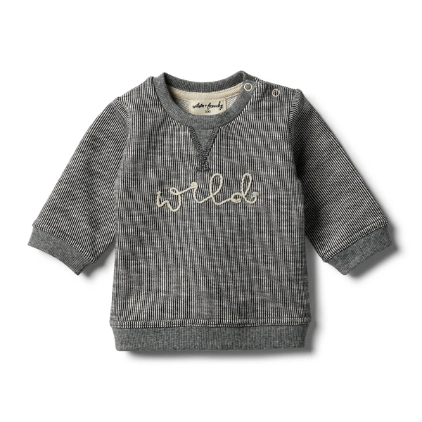 Wilson & Frenchy - Grey Speckle Sweat Top