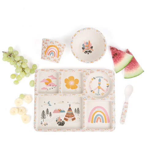 Love Mae - Bamboo Divided Plate Set - Gypsy Girl