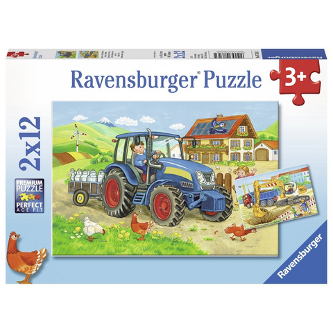 Ravensburger Puzzle - Hard At Work - Tractor